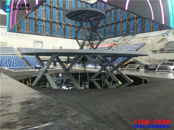 演艺,升降,舞台,升降,舞台,圆型,安装,中的,